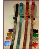 Crystal 3 Row Cat Collar with tag