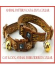 Dog & Cat Animal Pattern Embroidered Collar