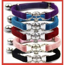 Liberty Skull Velvet Cat Collar Selection