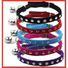 Velvet Stone Set Cat Collar