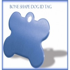 Blue Bone Shape Dog ID Tag