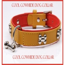 Cool Cowhide Dog Collar