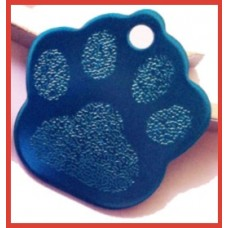 Paw Print Pet Tag Blue
