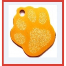 Paw Print Pet Tag Gold